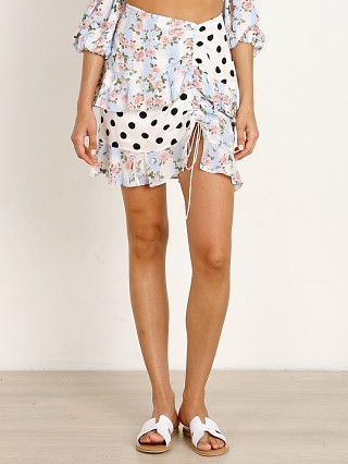 For Love & Lemons St Louis Mini Skirt Robin Blue