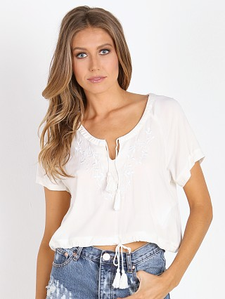 Somedays Lovin Stone Flower Blouse White