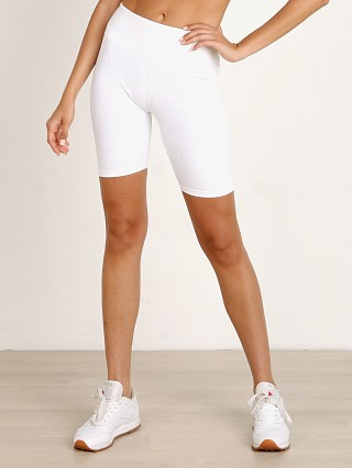 Year of Ours Ribbed Biker Short White
