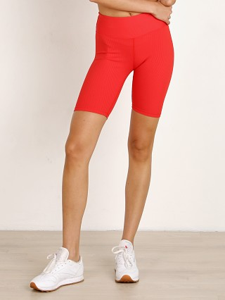 Year of Ours Ribbed Biker Short Red