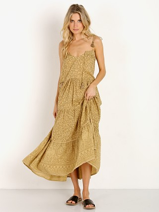 Spell & The Gypsy Wild Thing Strappy Midi Dress Mustard Leopard