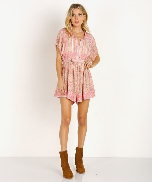 Spell & The Gypsy Poinciana Romper Pink