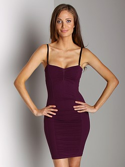 Free People Seamless Swiss Dot Slip Aubergine