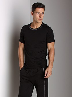 Calvin Klein One Cotton Short Sleeve PJ Top Black