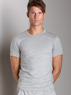 Calvin Klein One Cotton Short Sleeve PJ Top Grey