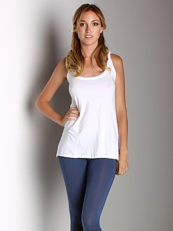 Fresh Laundry Tank Top with Twist Back White