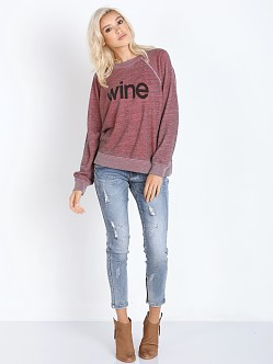 WILDFOX Wine Kims Sweater Marinara