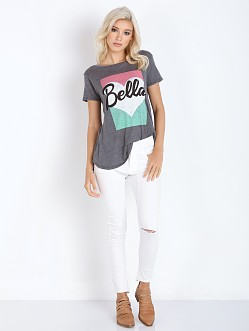 WILDFOX Bella Pop Travelers Crew Dirty Black