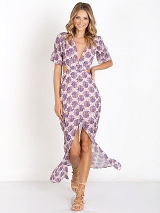 For Love & Lemons Clover Dress Lilac Print