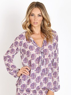 For Love & Lemons Clover Blouse Lilac Print