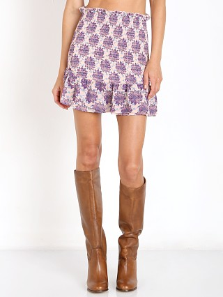 For Love & Lemons Clover Mini Skirt Lilac Print