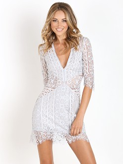 For Love & Lemons Lyla Cocktail Dress Silver