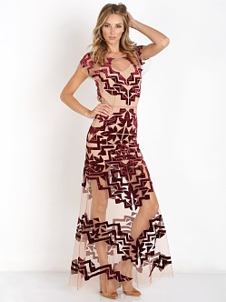 For Love & Lemons Vienna Maxi Dress Burgundy
