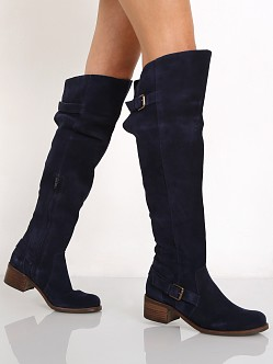 Matisse Finnley Over the Knee Boot Blue Suede