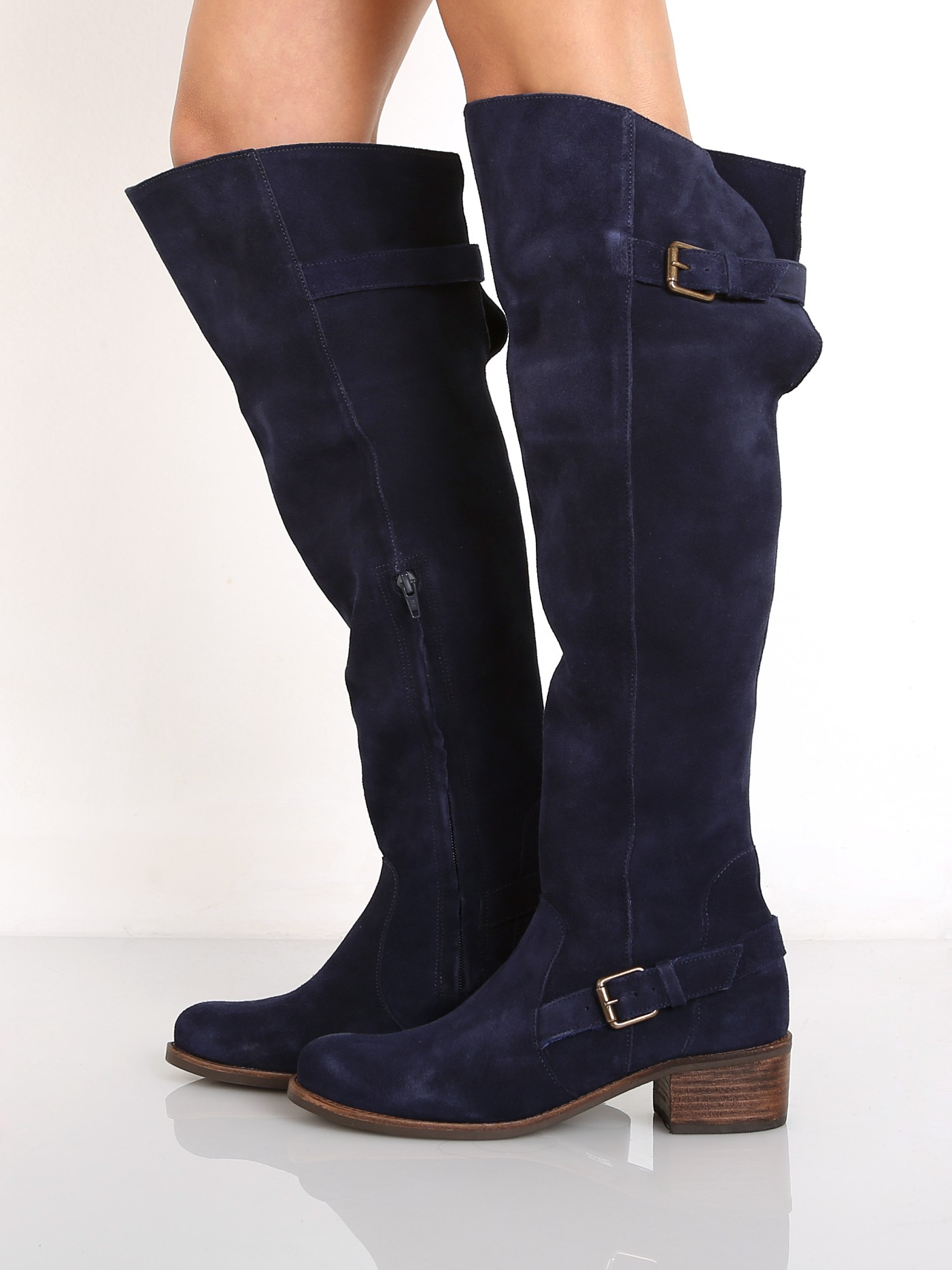 d31d9d525ee Matisse Finnley Over the Knee Boot Blue Suede FINNLEY - Free Shipping at  Largo Drive