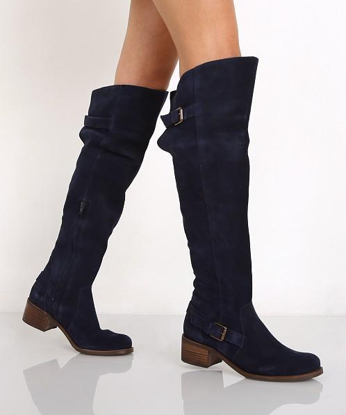 Matisse Finnley Over the Knee Boot Blue Suede FINNLEY - Free ...