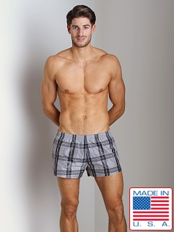 Sauvage Sun Plaid Swim Trunk Charcoal