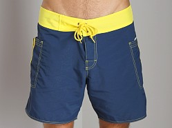 Sauvage Pocketed Board Shorts Navy/Yellow