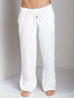 Sauvage 100% Laundered Linen Tropical Pant White