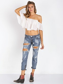Winston White Viva Crop with Chain White