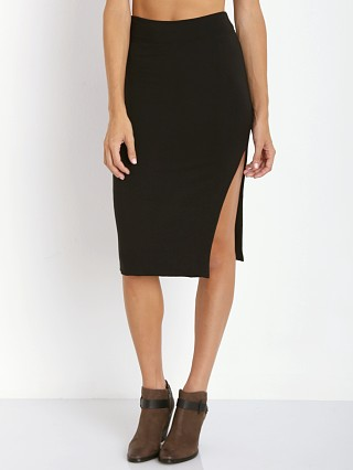 LNA Clothing April Slit Skirt Black