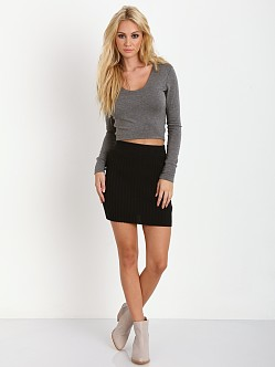 LNA Clothing Glasson Crop Top Marengo