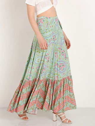 Spell & The Gypsy City Lights Maxi Skirt Sage
