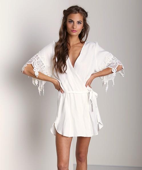 Stone Cold Fox Robe White Scfoxh01 Free Shipping At