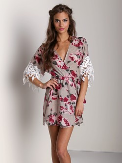 Stone Cold Fox Robe Rose