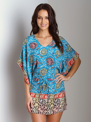 Complete the look: Tolani Silk Candice Tunic Blue Floral