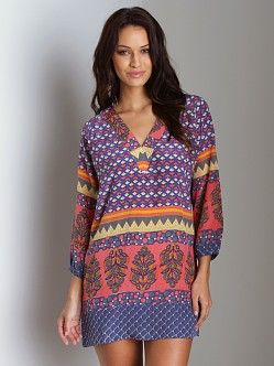 Tolani Silk Oksana Tunic Pink Purple