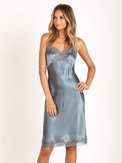 Only Hearts Silk Knee Length Slip Stormy