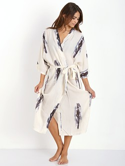 Lonely Long Robe Corn Print