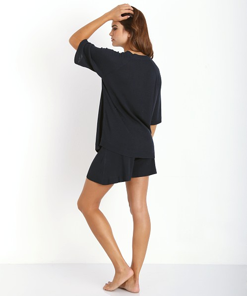 Lonely Silk Knit Short Navy