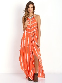 Indah IMANI Maxi Dress Garis Orange