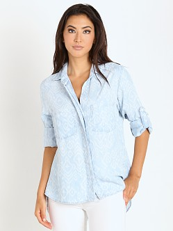 Bella Dahl Split Back Button Down Tribal