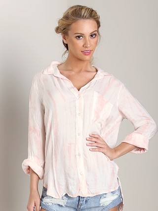 Bella Dahl Shirt Tail Button Down Coral Sunset