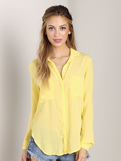 Bella Dahl Hipster Shirt Blazing Yellow