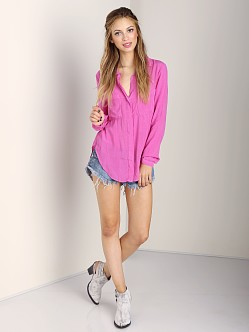 Bella Dahl Hipster Shirt Electric Violet
