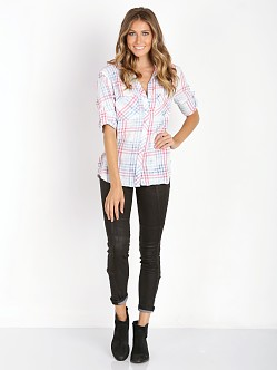 Bella Dahl Two Pocket Button Down Tie Dye Check