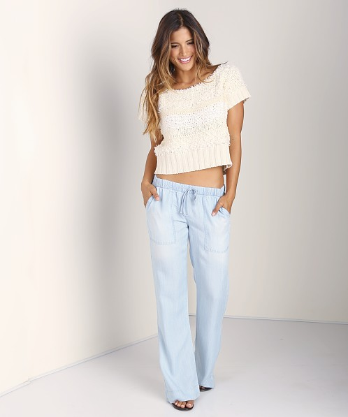 Bella Dahl Easy Pocket Wide Leg Pant Sun Worn