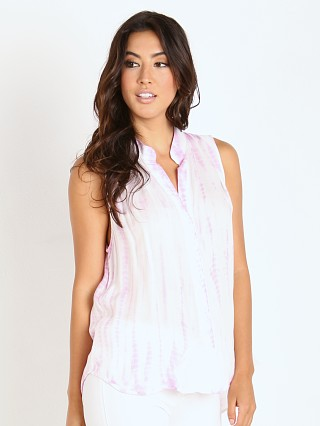 Bella Dahl Sleeveless Pleat Blouse Lilac Frost