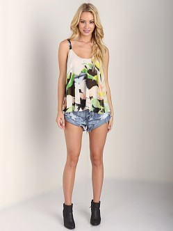 Show Me Your Mumu Sarah Wing Tank Watercolor Flower