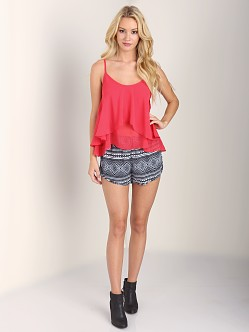 Show Me Your Mumu Jodi Rae Ruffle Tank Lobster