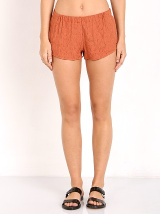 Model in pumpkin eyelet Flynn Skye Sadie Short