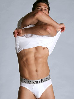 Calvin Klein Steel Micro Hip Brief White