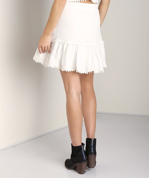 For Love & Lemons Chica Mini Skirt Ivory