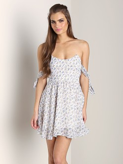 For Love & Lemons Kiss Me Dress White Floral