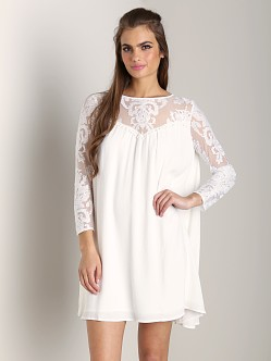 For Love & Lemons Bonita Dress Ivory