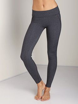 Beyond Yoga Heather Lattice Trim Long Legging Heather Grey